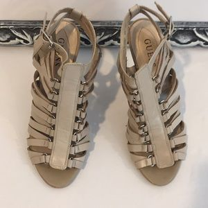 Guess brand strappy heels